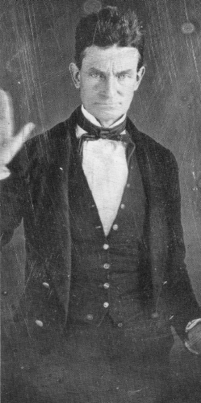 John Brown, the abolitionist, c. 1856, taken by well-known daguerreotypist Augustus Washington, class of 1843. Above right: Major A.