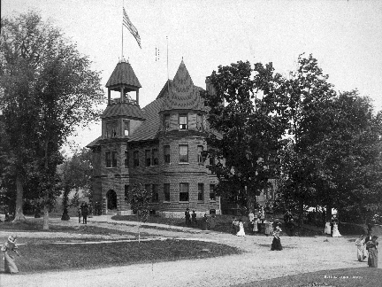 : Dedicated on June 16, 1892, this class building replaced the Third Academy building and was later named for Dr. Edward K. Baxter of Sharon, VT, class of 1858. Some structural changes were made in 1921 as can be seen today.