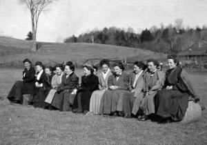 KUA's women cheer on the men's teams ca: 1900.