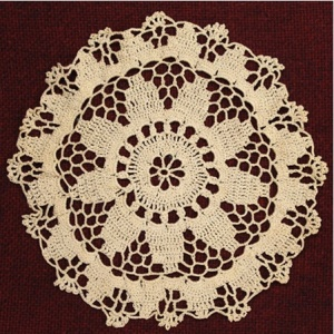 A doily made by Laura Bridgman