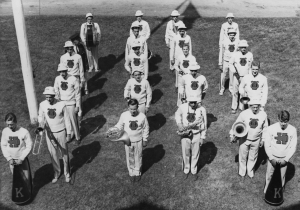 The Band was organized in 1942 as a marching band