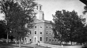 The Third Academy building was destroyed by fire in 1892. Baxter Hall was built on the site.