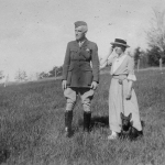 Ernest Harold Baynes with his wife Louise Baynes seen in a pre-1919 photograph taken in Meriden.