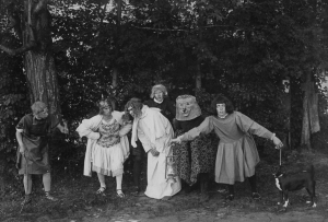 The Senior Play, A Midsummer Night's Dream was presented in the Campus Woods following the Planting of the Ivy.