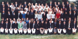 KUA class to graduate. Several years later he welcomed two of them back onto campus as faculty members. Can you find them in this photograph? If so, congratulate them and wish them a happy Reunion 2014.