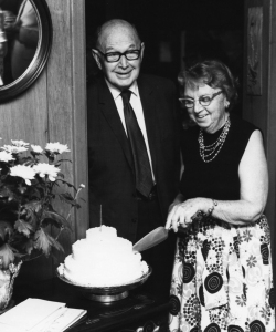 Wayland and Bertha Porter at their retirement celebration in 1965. honor.