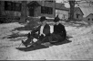Howland and his sister, into old age, enjoyed sledding down the street outside their home