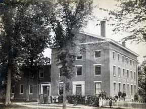 Known as the Third Academy, the corner stone for the addition to the Second Academy (on the left), was placed on May 8, 1839.