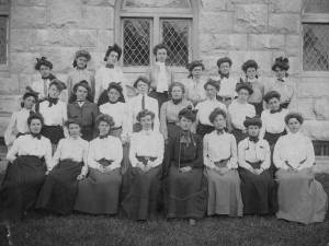 Kimball Union's women's group, The Minervian Society in 1903, 48 years after it was established in 1855.