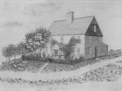 The Kimballs' home as drawn by a 19th century student.