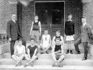 Pictured here are a few members of what was described as a large group out for track in 1915. Apparently, the team results were not great as it was written that many of the younger athletes had little experience so the hope was for better results the following spring.