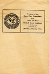 The Commencement program for the Centenary year 1913.