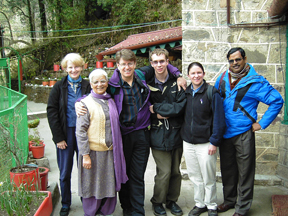 Chaperones: Marianne McGraw, Mrs. Saroj Kapadia, David Weidman, Stephen Rogers, Elizabeth Benestead, and Bikash Ghosh, their in-country tour guide.