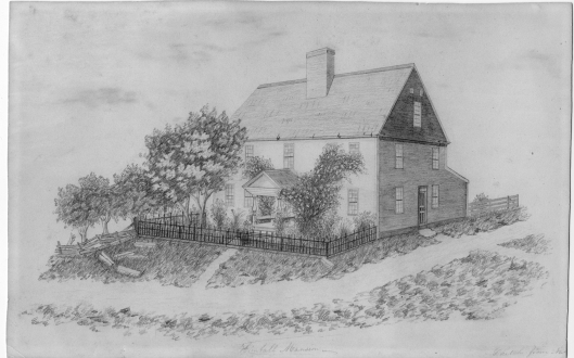 Daniel Kimball House drawn by student